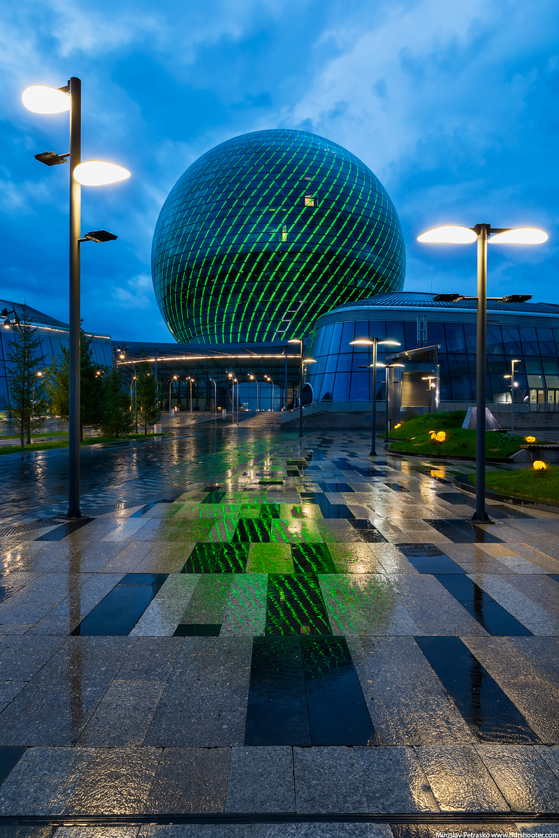 Rainy reflection, Astana, Kazakhstan