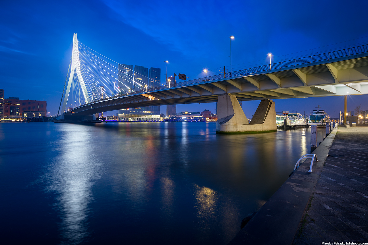 Blue morning in Rotterdam, Netherlands