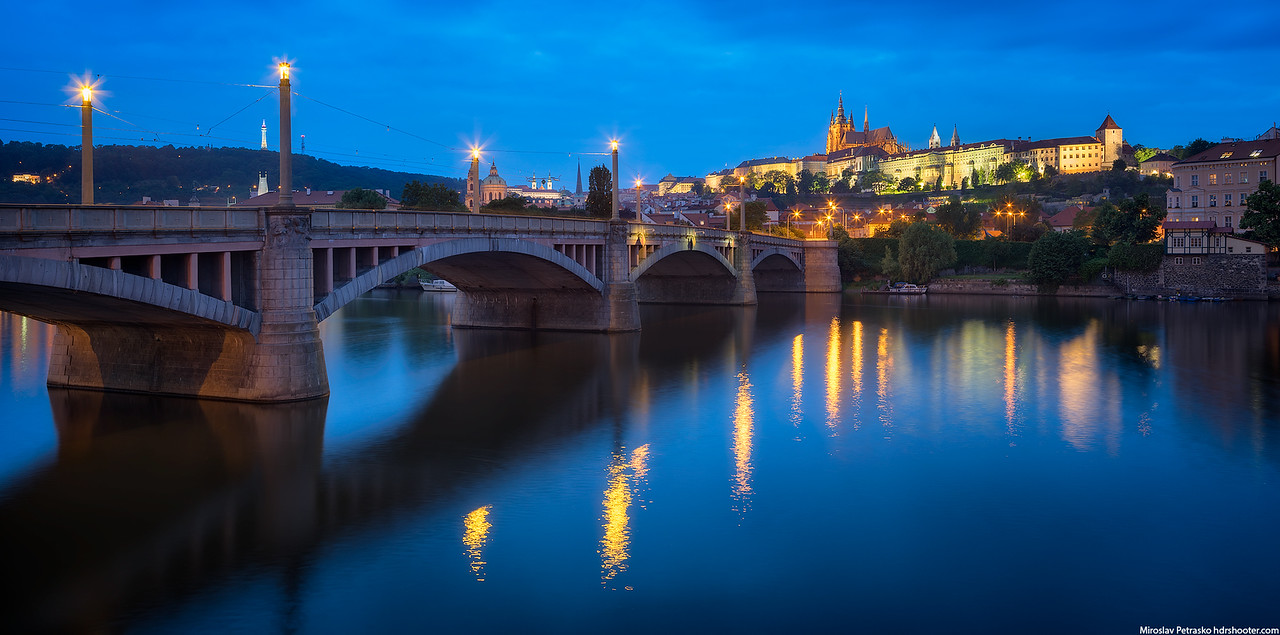 Manes Bridge in Prague, Czech Republic