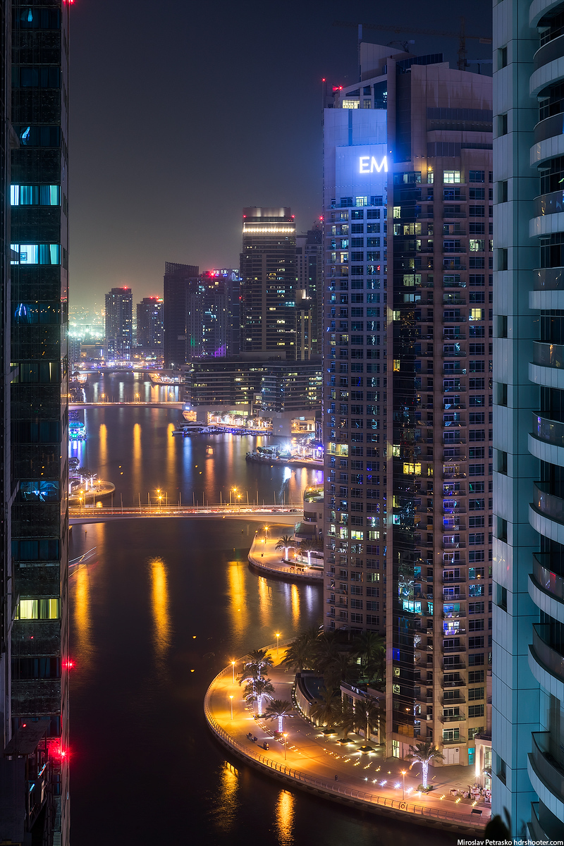 Framed shot from the Dubai Marina