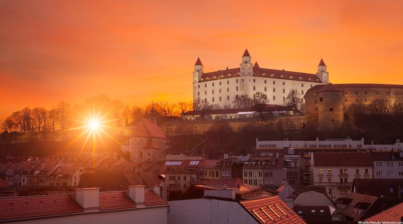 Sunset at the Bratislava Castle, Bratislava, Slovakia