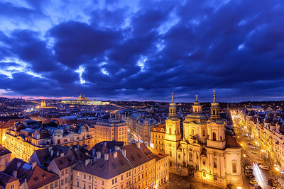 The blue view of Prague One of the hardest type of photos to edit, when yo need different white balance for the blue and yellow parts.