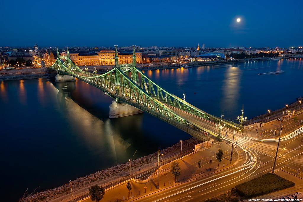 Moonrise over Budapest