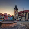 Soft sunset<br /> <br /> Another shot from the center of Bardejov. As you can see, there were absolutely no clouds that day :). It was a little bad luck, as the day before and the day after the clouds were absolutely amazing. But maybe next time :)<br /> <br /> I left the colors here quite soft. I tried also a more saturated version of this photo, but it didn't looked right to me anymore, so I left it as it is :)<br /> <br /> HDR from three shots, taken with Canon 450D with Sigma 10-20mm lens, from a tripod.