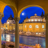 <h2>Capturing the Moon</h2> From all the places I visited when I was last time in Budapest, this is the last one of which I haven't uploaded any photos yet. The Széchenyi thermal bath looks great, but the combination of yellow lights with yellow buildings gives me a headache when I'm editing the final HDR. It's just never exactly as I would like it :) Actually this is the forth edit of this photos. The first three I did in the last month I deleted afterwards. But I try not to give up on photos I like and go back to them after a while, and try again.