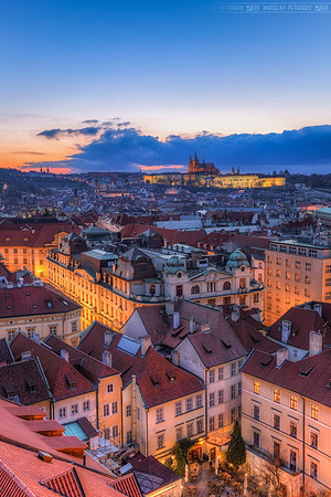 Blue clouds in Prague Still have a lot of Prague photos which I haven't processed yet, so here is another one. But there will be many more, as I plan to visit Prague again.