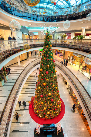 Central Christmas tree Not central because it's in the center of the city, but because the shopping center in which it is is called Central :)