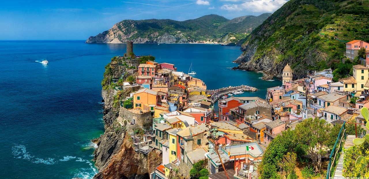 Warm day in Cinque Terre, Vernazza, Italy