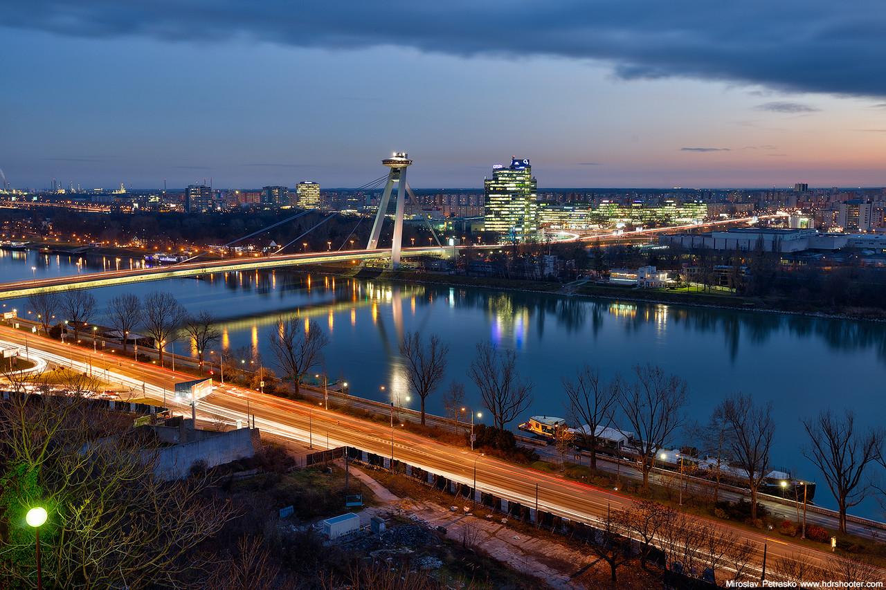 Cold city evening
