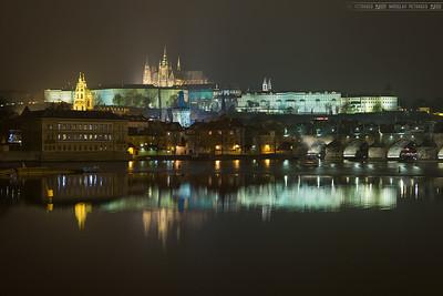 Foggy reflection in Pragu