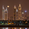 Moonrise over Dubai