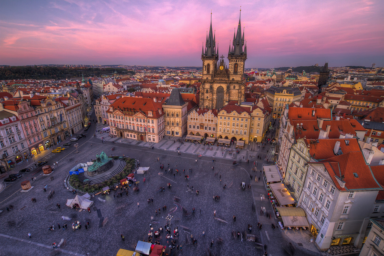 Prague  This really has to by ma favorite view of Prague :). It just makes me wish to go there again, which I definitively will :)  HDR from three shots, taken with Canon 7D with Sigma 10-20mm lens, from a tripod.