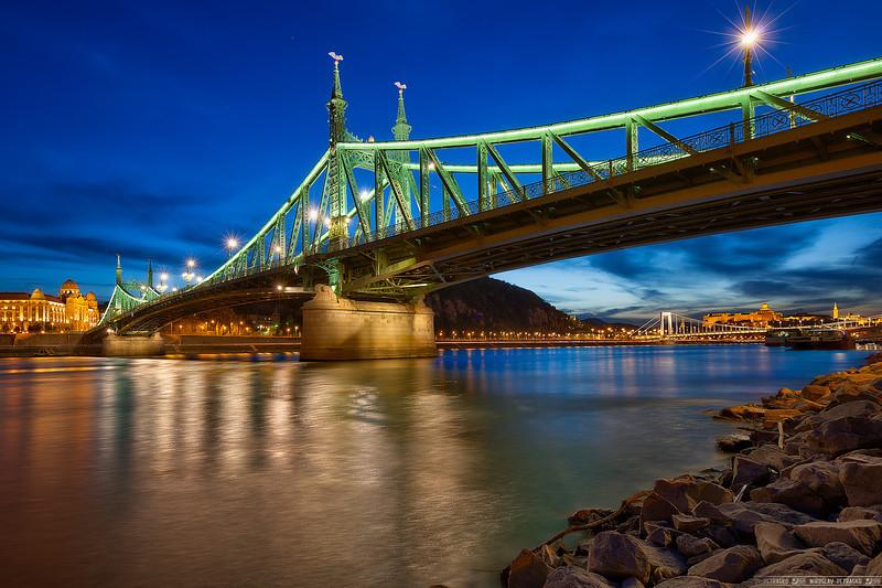Evening by the Liberty Bridge
