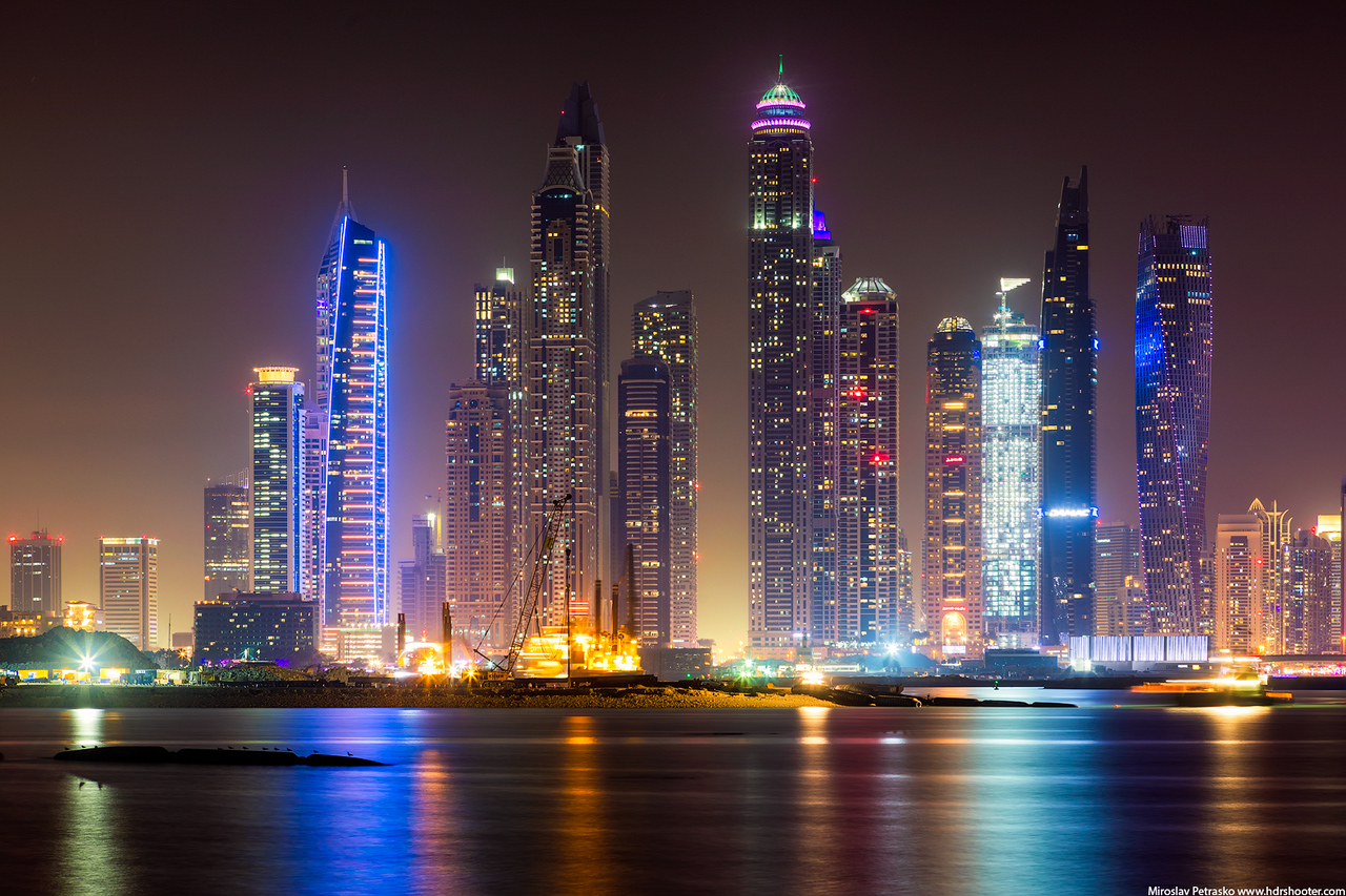 Evening in the Dubai Marina, Dubai, UAE