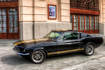 1967 Ford Mustang GTA What a beauty this is. And I took this only handheld :). I had to be very quick, so I have no one in the shot.