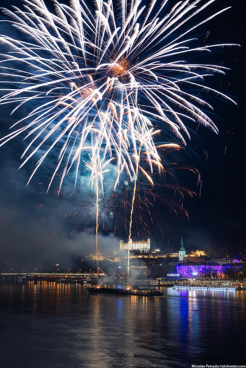 Even more fireworks, Bratislava, Slovakia