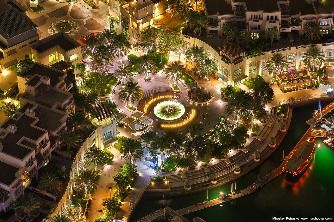Glowing fountain