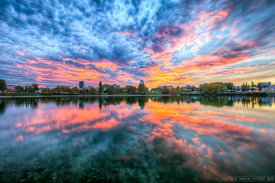 All about the clouds Usually I would probably try to find some interesting subject to go with this stunning clouds, but as there isn't much around the Strkovec lake in Bratislava, I just made the photos all about clouds and their reflection.
