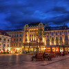Main Square<br /> <br /> Something from the center of Old town in Bratislava. This photo was taken about a week ago. It was such a nice warm evening, excellent time to go out. A lot of people had the same, so you can see few shadow, from the ones that passed in front of my camera, but I don't really mind. <br /> <br /> HDR from three shots, taken with Canon 450D with Sigma 10-20mm lens, from a tripod.