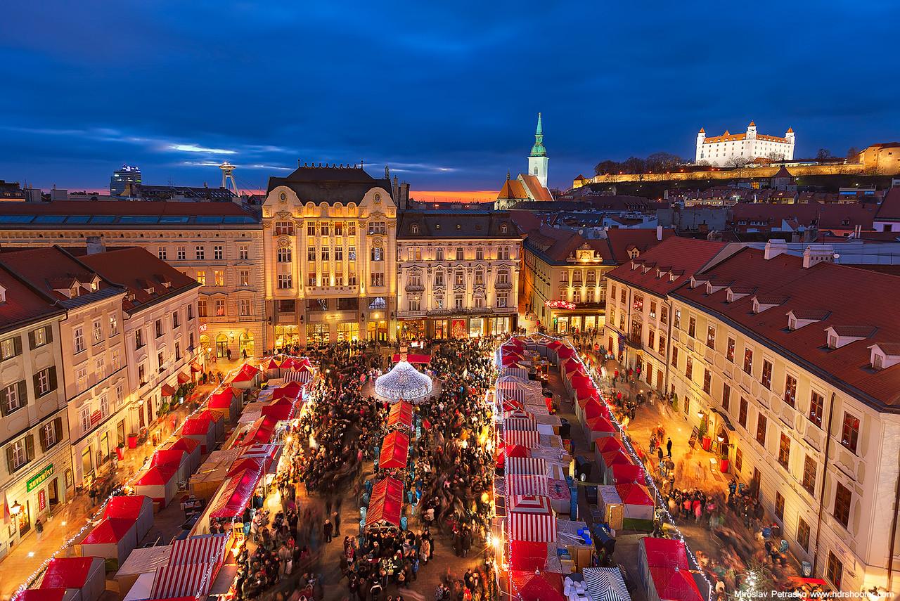 Christmas market in Bratislava