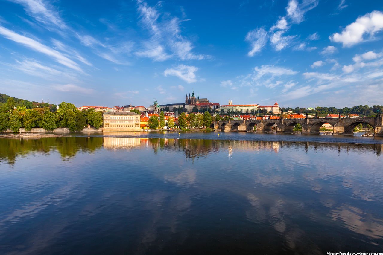 Prague center during a calm morning
