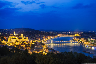 Windy evening in Budapest