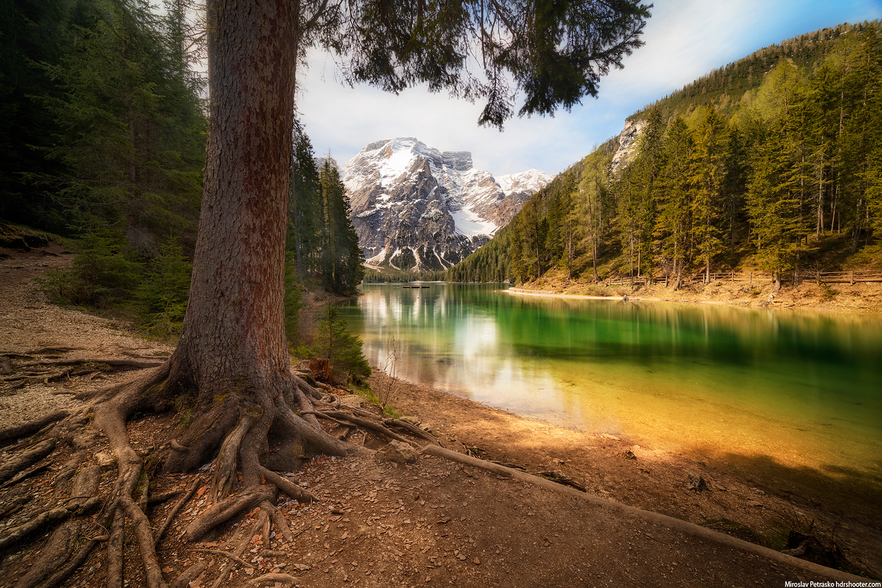 In the shade, Lago di Braies, Dolomites, Italy