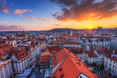 Prague Sunset Such a lovely view, isn't it.