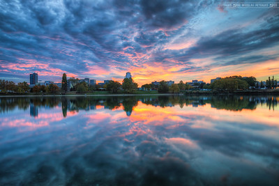 Today's sunset After yesterdays, Yesterday's sunset, here is the one that was in Bratislava today. I will have to edit more photos from today, as it was much better than I managed to capture here. Most of the sky was orange/purple with a great reflection in the water. Just stunning.