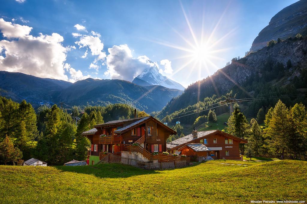 With a view of Matterhorn