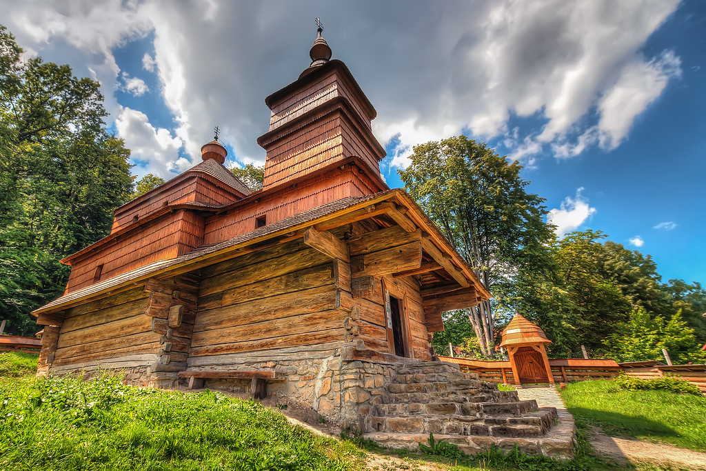 Nice wooden church Another place I plan to revisit this summer, the Open air museum in Bardejovske Kupele.