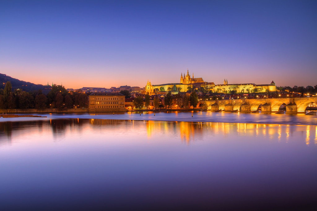 Soft sunset in Prague