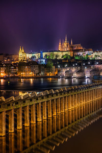 Night in Prague  I took quite a lot of shot in the center of Prague. The view at night is really beautiful.   HDR from three shots, taken with Canon 450D with Sigma 18-200mm lens from a tripod.