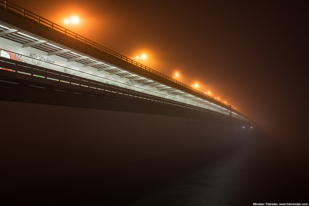 Bridge into the fog