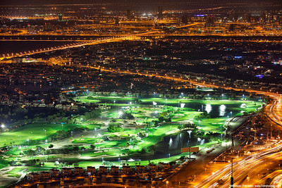 Golf course at night