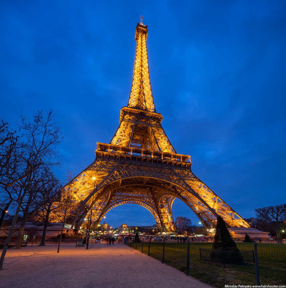 Early Spring under the Eiffel tower, Paris, France