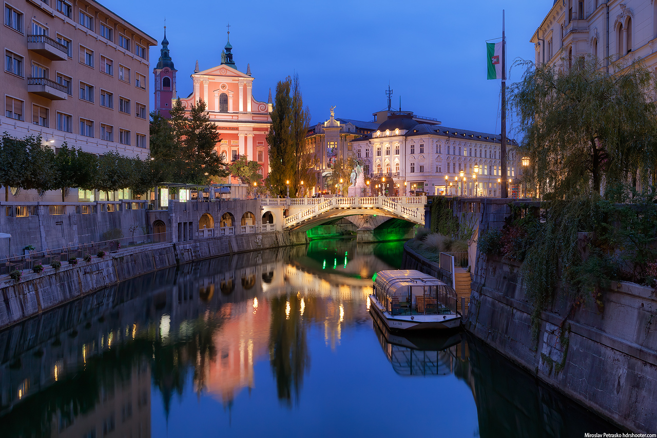 Early morning in Ljubljana