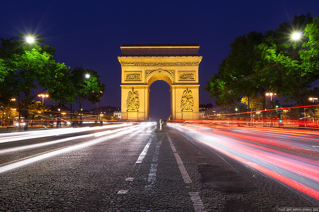 Traffic at the Arc De Triomphe