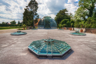 Glass domes  The palm house in Lednice looks quite interesting. Something a little like from a sci-fi movie :)  HDR from three shots, taken with Canon 450D with Sigma 10-20mm lens, from a tripod.