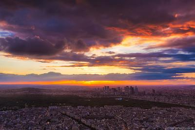 Perfect sunset in Paris