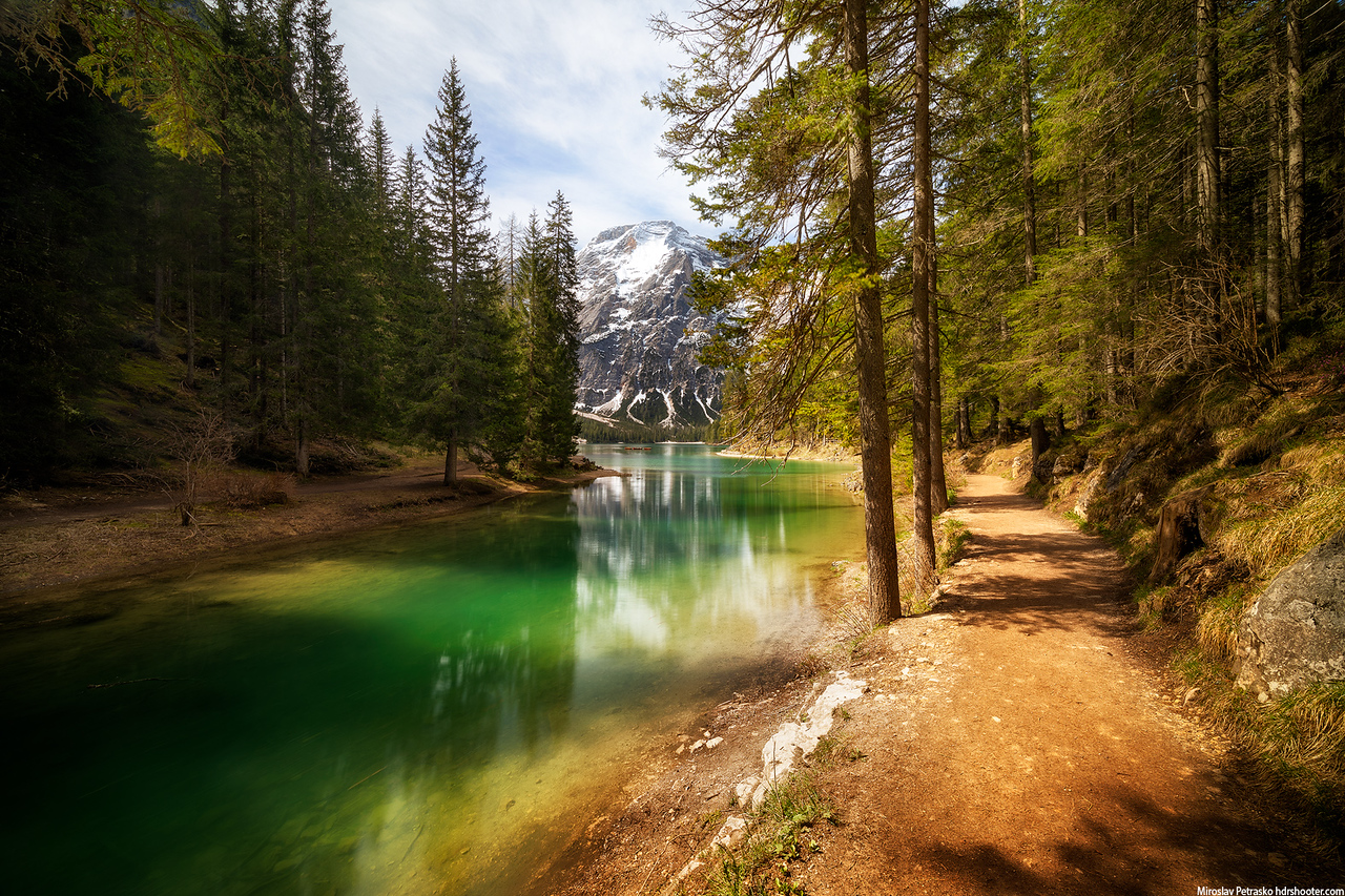Walking around Lago Di Braies