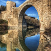 """The big 10<br /> <br /> or one of the old bridges in Toledo (I couldn't find how it's called). I of course couldn't resist not to go under the bridge to take few shots. The water was really calm that day, giving me this perfect reflection :)<br /> <br /> Get more info about this photo on my blog <a href=""""http://blog.hdrshooter.net"""">http://blog.hdrshooter.net</a>"""