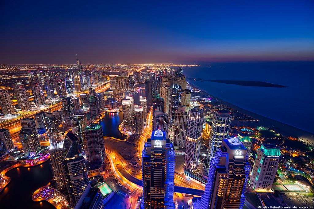 View of the Dubai marina