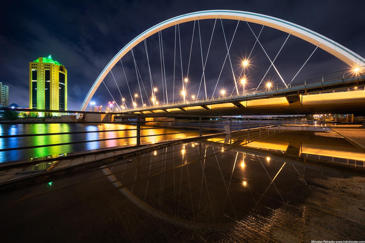 Very early morning reflection, Astana, Kazakhstan