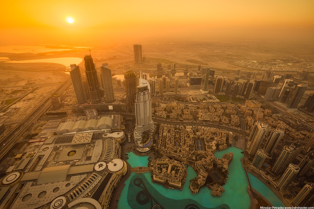 Sunrise at the top of Dubai, UAE