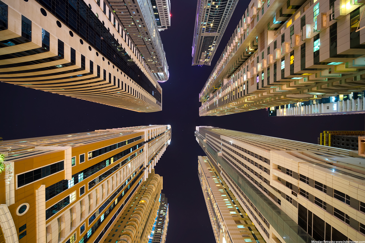 Looking up in Dubai Marina