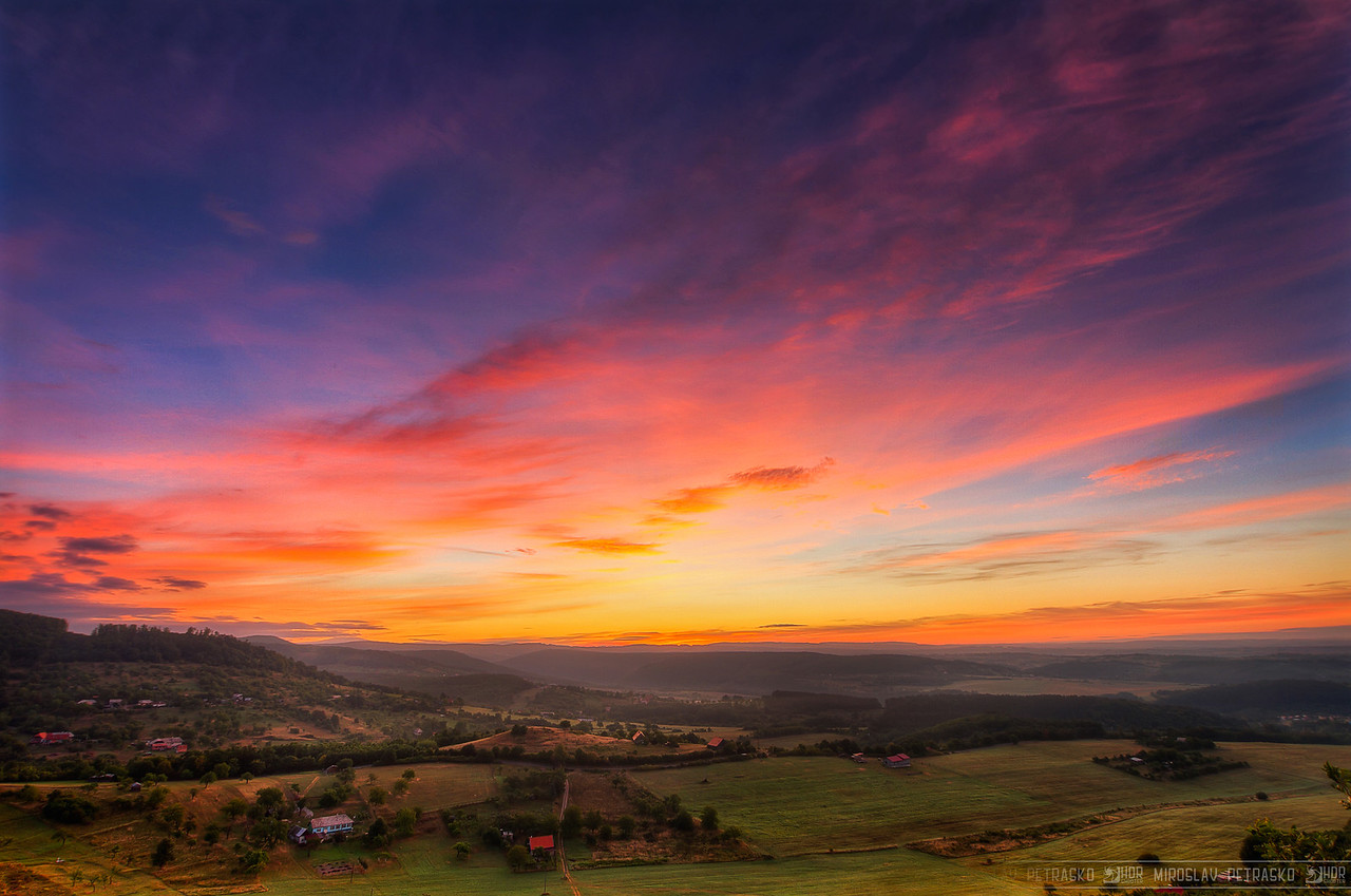As the Sun emerges Really busy today, so just a quick edit of a sunrise taken in Central Slovakia.