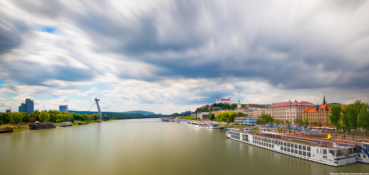 Passing clouds over Bratislava, Slovakia