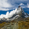 Clouds climbing the Matterhorn