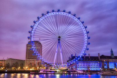 The London Eye in the morning